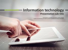 정보 통신 기술 파워포인트 템플릿