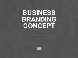 비즈니스 브랜딩 컨셉 피피티