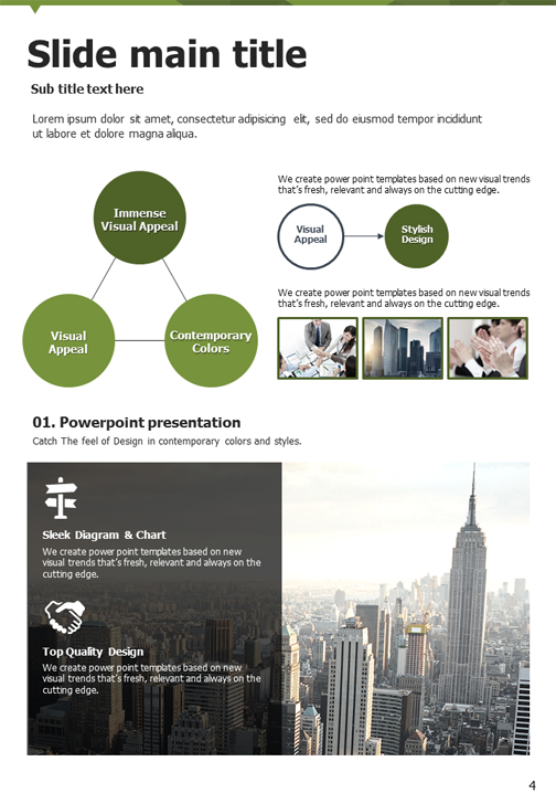 Triangle Powerpoint Template Vertical Goodpello