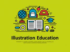 귀여운  일러스트 교육 애니메이션 프레젠테이션