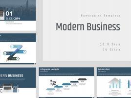 Modern Business PPT Template Wide