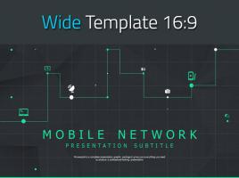 모바일 네트워크 와이드 파워포인트 템플릿