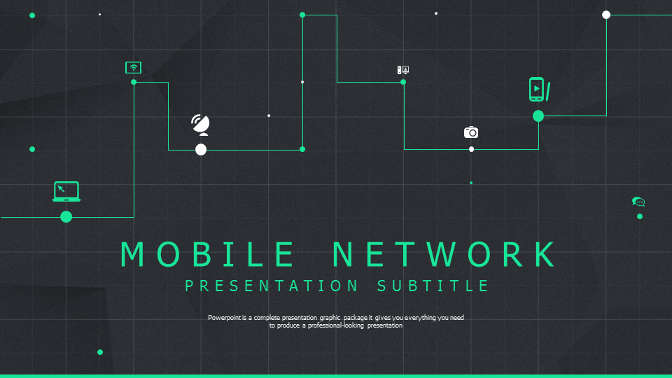 network powerpoint template wide � goodpello