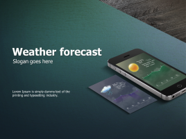 일기예보 어플리케이션 피피티 템플릿