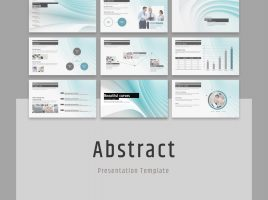 Abstract PowerPoint Template Wide