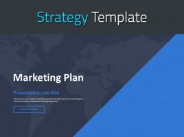 블루 표준 마케팅 기획서 템플릿