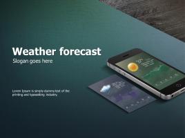 일기예보 어플  애니메이션 피피티 템플릿