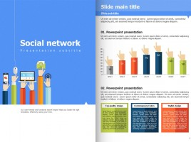 Social Network PowerPoint Vertical