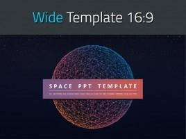 우주 테마 와이드 피피티 템플릿