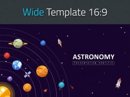 천문학 와이드 프레젠테이션 템플릿