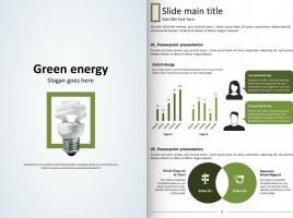 친환경 그린 에너지 세로형 파워포인트