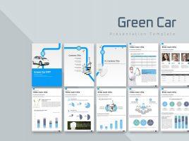 Green Car Vertical PPT