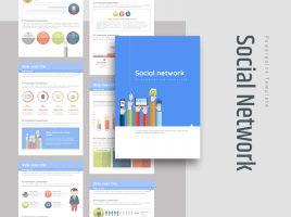 소셜 네트워크 세로형 피피티 템플릿
