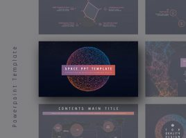 Space PPT Template Wide