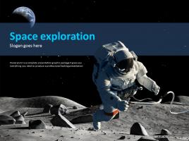 우주 탐사 애니메이션 프레젠테이션
