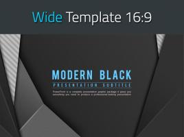 모던 블랙 와이드 파워포인트 템플릿