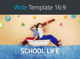 즐거운 학교생활 와이드 파워포인트 템플릿