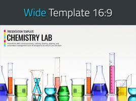 화학 실험실 와이드 프레젠테이션 템플릿