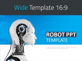 로봇 와이드 피피티 템플릿
