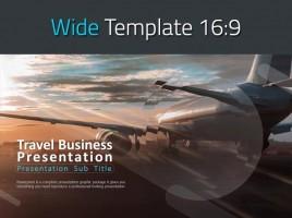 여행사업 와이드 프레젠테이션 템플릿