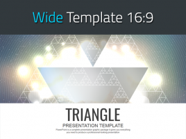 삼각형 패턴 와이드 파워포인트 템플릿