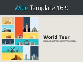 세계여행 파워포인트 와이드 템플릿