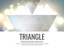 삼각형 패턴 파워포인트 템플릿