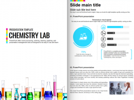 Chemistry Lab Vertical Presentation Template