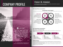 Road PowerPoint Template Strategy Vertical
