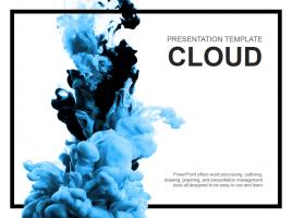 구름 파워포인트 템플릿