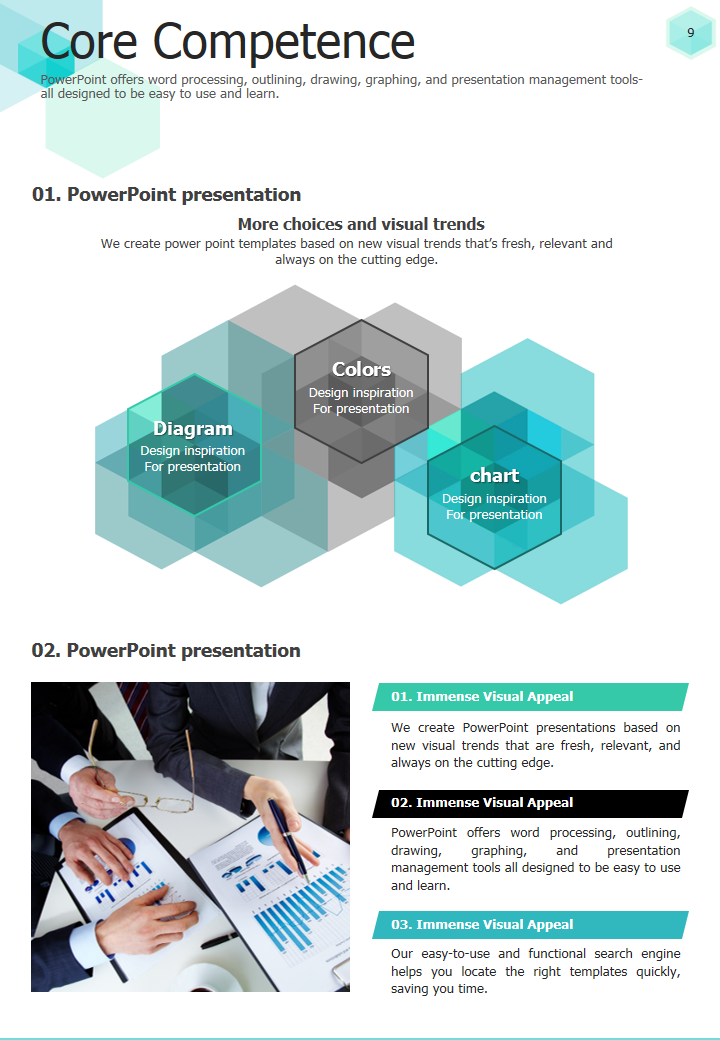 Hexagon Powerpoint Template Strategy Vertical Goodpello