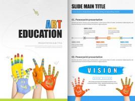미술 교육 세로형 템플릿