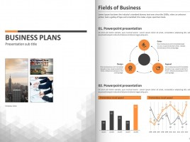 Business PPT Template Strategy Vertical