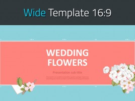 웨딩 꽃 프레젠테이션 와이드 템플릿