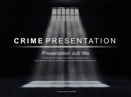 범죄 프레젠테이션 템플릿