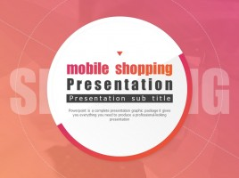 Mobile Shopping Presentation Template