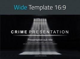범죄 프레젠테이션 와이드 템플릿