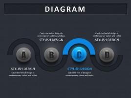 3d 인포그래픽 선형 다이어그램