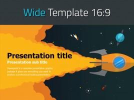 Rocket PowerPoint Template Wide