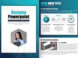 Resume PowerPoint Template Vertical