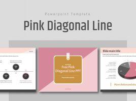 Free Pink Diagonal Line PPT