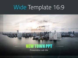 New Town PPT Template Wide