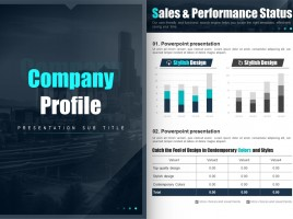 Blue Company Profile Template Strategy Vertical