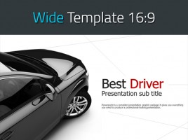 Car PowerPoint Template Wide