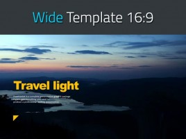 Travel Light PPT Template Wide