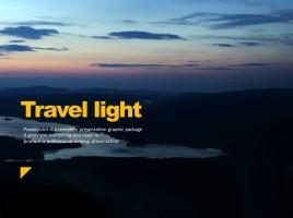 Travel Light PPT Template