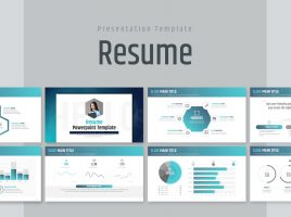 Resume PowerPoint Template Wide