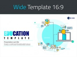 Education Icon PPT Template Wide