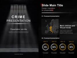 범죄 프레젠테이션 세로형 템플릿