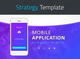 모바일 어플리케이션 회사소개서 템플릿